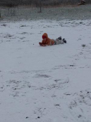Spaß mit Schnee