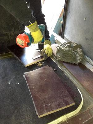 """vorbereitung der haltestege für den dach""""schrank"""""""