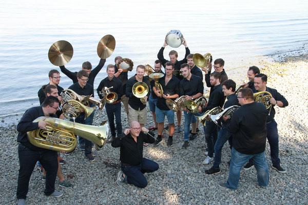 Lake Brass bei der Einspielung ihrer CD