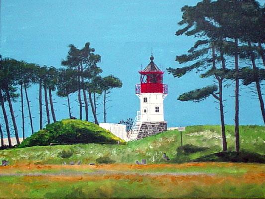 """""""Leuchtturm Gellen Hiddensee"""" Acryl auf Leinwand 40x50 cm 05.2004"""