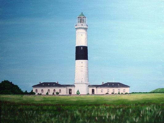 """Leuchtturm Kampen Sylt"" Acryl auf Leinwand 60x80 cm 08.2004"