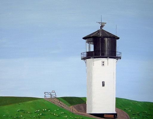 """Leuchtturm Dicke Berta"" in Cuxhaven-Altenbruch Acryl auf Leinwand 90x70 cm 03.2008"