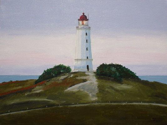 """Leuchtturm Dornbusch Hiddensee"" Acryl auf Leinwand 40x50 cm 03.2004"
