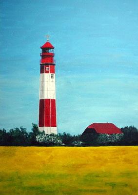 """""""Leuchtturm Fehmarn"""" Acryl auf Leinwand 70x50 cm 12.2003"""