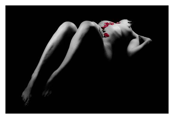 Photographe de nu artistique sur Grenoble - Noir&Blanc - Clair/Obscur - Low key - Loïc Scalisi
