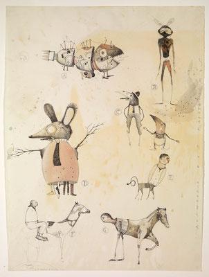 """""""Auswüchse"""", 2011, Zeichnung, 58 x 43 cm"""