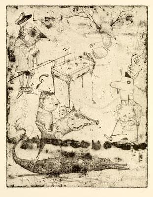 """""""le grand mix"""", 2013, Radierung, 51 x 39 cm"""