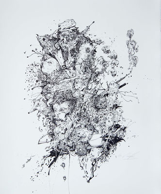 """""""Der Wilderer 1"""", 2013, Lithografie, 60 x 50 cm"""