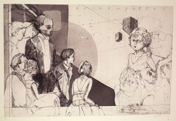 """""""Aschenputtel"""", 2011, Radierung, 39 x 60 cm"""