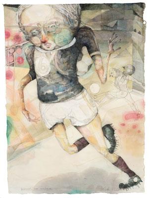 """""""Gewinner & Verlierer"""",  2014, Zeichnung, 75 x 55 cm"""
