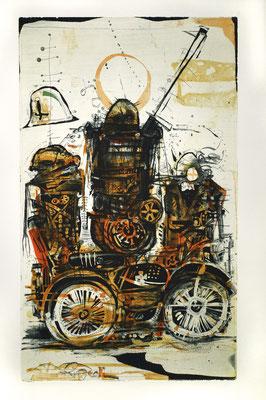 """""""Rocker"""", 2014, Farbradierung von 3 Platten, 49 x 30 cm"""