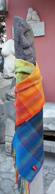 Schal – Baumwolle – Waffelbindung