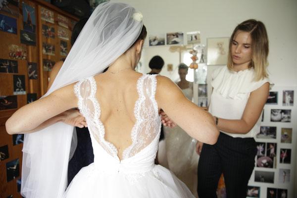 Aurélie / Sept. 2017 - Ludivine Guillot, robe de mariée sur mesure à Lyon.