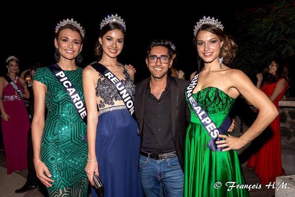 Camille Bernard - Miss Rhône-Alpes 2016 - Lors d'une soirée officielle à l'Ile de la Réunion pendant son aventure Miss France
