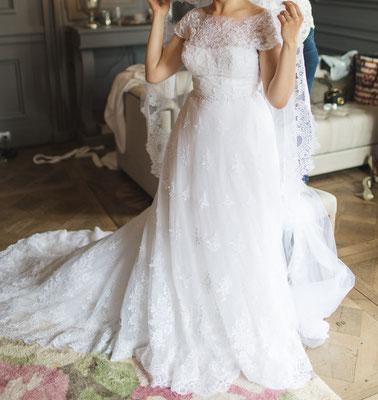 Daria / Juillet 2016 - Ludivine Guillot, robe de mariée sur mesure à Lyon.