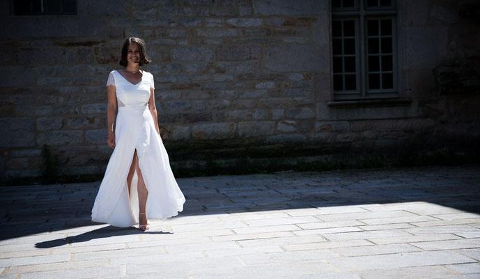 Caroline / Août 2017 - Ludivine Guillot, robe de mariée sur mesure à Lyon.