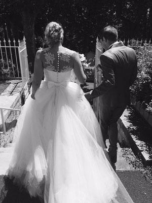 July / Juillet 2016 - Ludivine Guillot, robe de mariée sur mesure à Lyon.