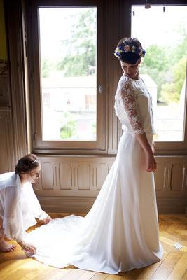 Perrine / Juillet 2017 - Ludivine Guillot, robe de mariée sur mesure à Lyon.