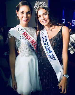 Julia Sidi Atman - Miss Côte d'Azur 2017 / Marine Pipitone - Miss Beaujolais 2017