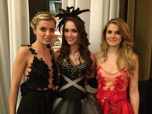 Julie, Aurore et Virginie, nos Miss Rhône-Alpes lors des 25 ans du Comité Miss Rhône-Alpes