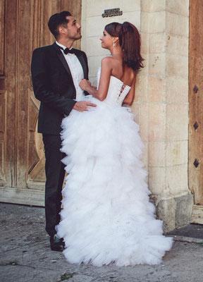 Emilie / Août 2014 - Ludivine Guillot, robe de mariée sur mesure à Lyon.