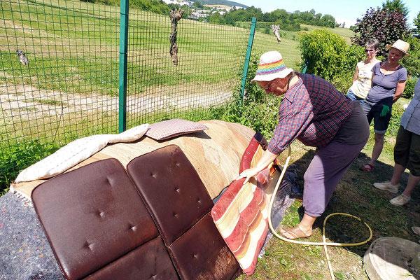 Foto: NABU Olpe, Aufbau Heißkompost