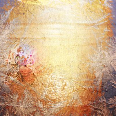 """""""Age of Gold"""", 90 x 90 cm, 600 €. Bei Direktverkauf aus dem Ya Wali 540 €"""