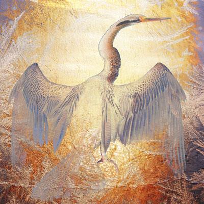 """Kormoran Gold"", 40 x 40 cm, 300 €"