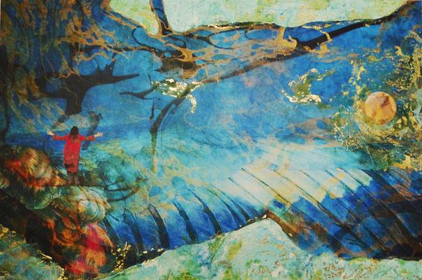 """Miraculum V2"", 80 x 60 cm, oxydiertes Dekorgold, 770 €"