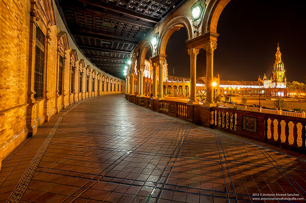 Noche en plaza de España  /  Night in Spain Square