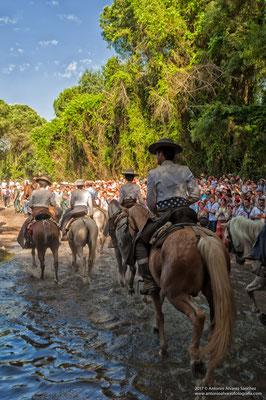 Cruzando el arroyo  / Crossing the stream