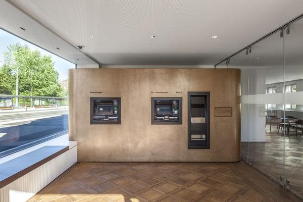 Postfinance Muri Bern, Architekt:  Urech Architekten AG, Köniz und Maeder Stooss Architekten GmbH, Bern, Lichtplaner: Sommerlatte & Sommerlatte AG, Zürich, Fotograf: Stefan Weber, 2565 Jens