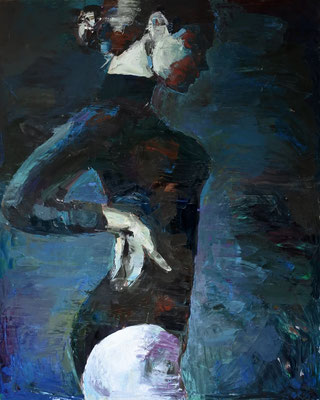 Ballerina, oil on canvas, 162 x 130 cm, 2015