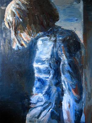 Girl in Geneva, oil on canvas, 130 x 97 cm, 2016