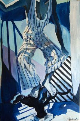 Balance, oil on canvas, 150 x 100 cm, 2021