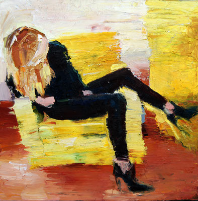 Yellow Chair, oil on canvas, 100 x 100 cm, 2017