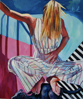 Stripes, oil on canvas, 120 x 100 cm, 2021