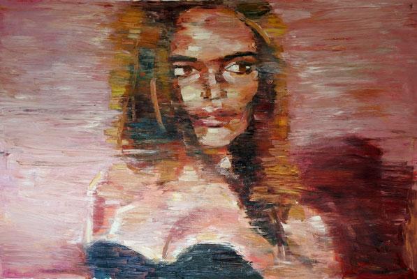 Mademoiselle, oil on canvas, 100 x 150 cm, 2016