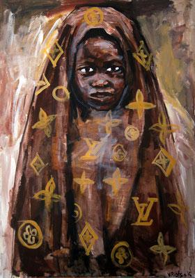 LV, acrylic on canvas, 80 x 60 cm