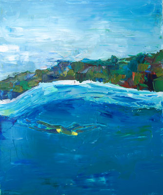 Wave, oil on canvas, 65 x 54 cm, 2016