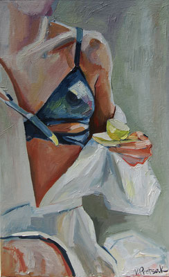 Femme, oil on canvas, 50 x 80 cm, 2020