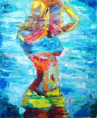 Salt water, oil on canvas, 65 x 54 cm, 2016