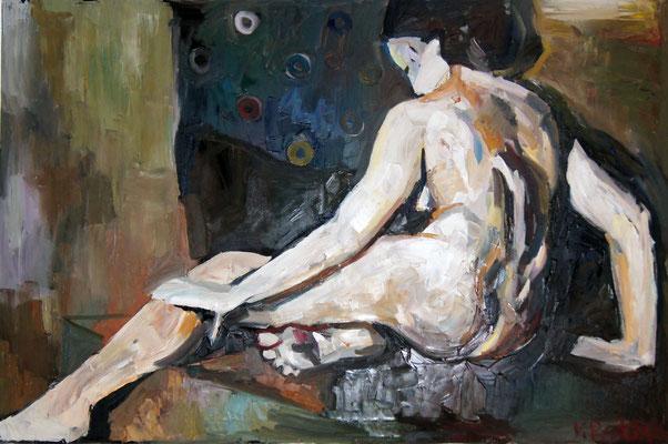 Nude, oil on canvas 120 x 100 cm 2015