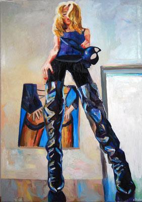 Saint Laurent boots, oil on canvas, 2020