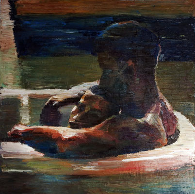 Opium, oil on canvas, 100 x 100 cm, 2015