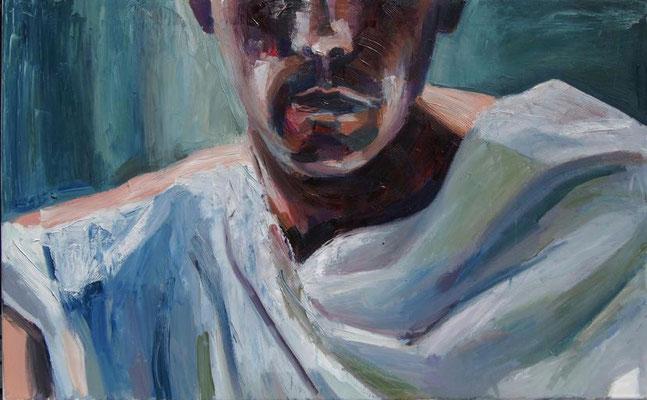 Roman, oil on canvas, 50 x 80 cm, 2020