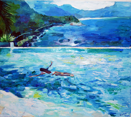Palm Shadow, oil on canvas, 140 x 160 cm 2019