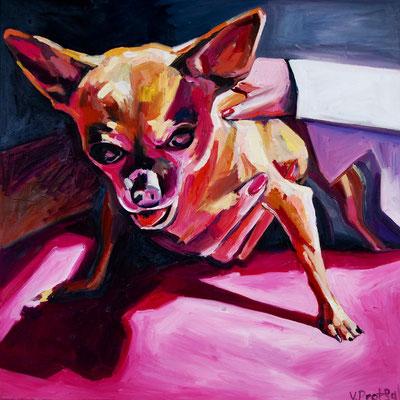 Doggy, oil on. canvas, 50 x 50 cm, 2021