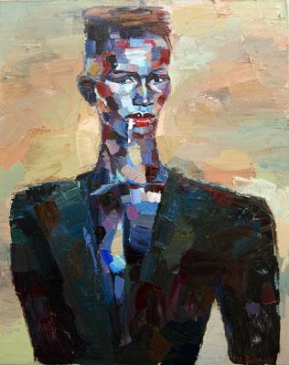 Grace Jones, oil on canvas, 100 x 80 cm, 2017