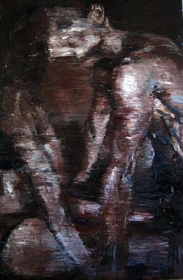 Kiss, oil on canvas, 150 x 100 cm, 2017